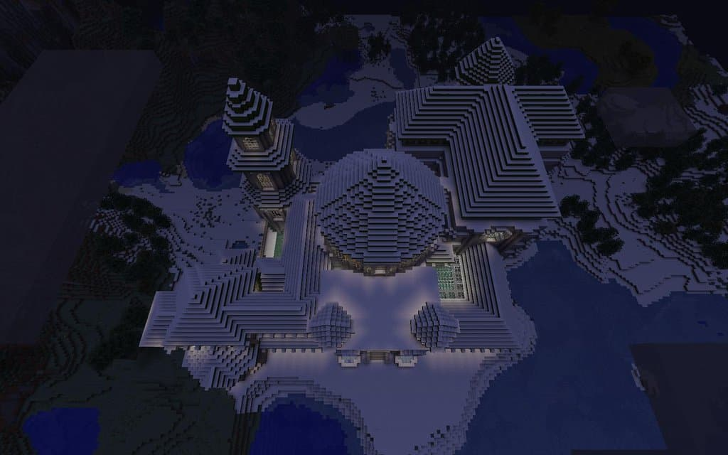 Birds Eye View of Minecraft Castle