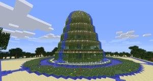 Waterfall Garden Minecraft PC and Xbox