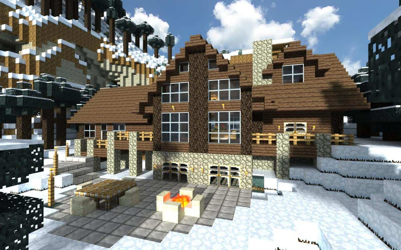 Log cabin minecraft building inc for Awesome house blueprints