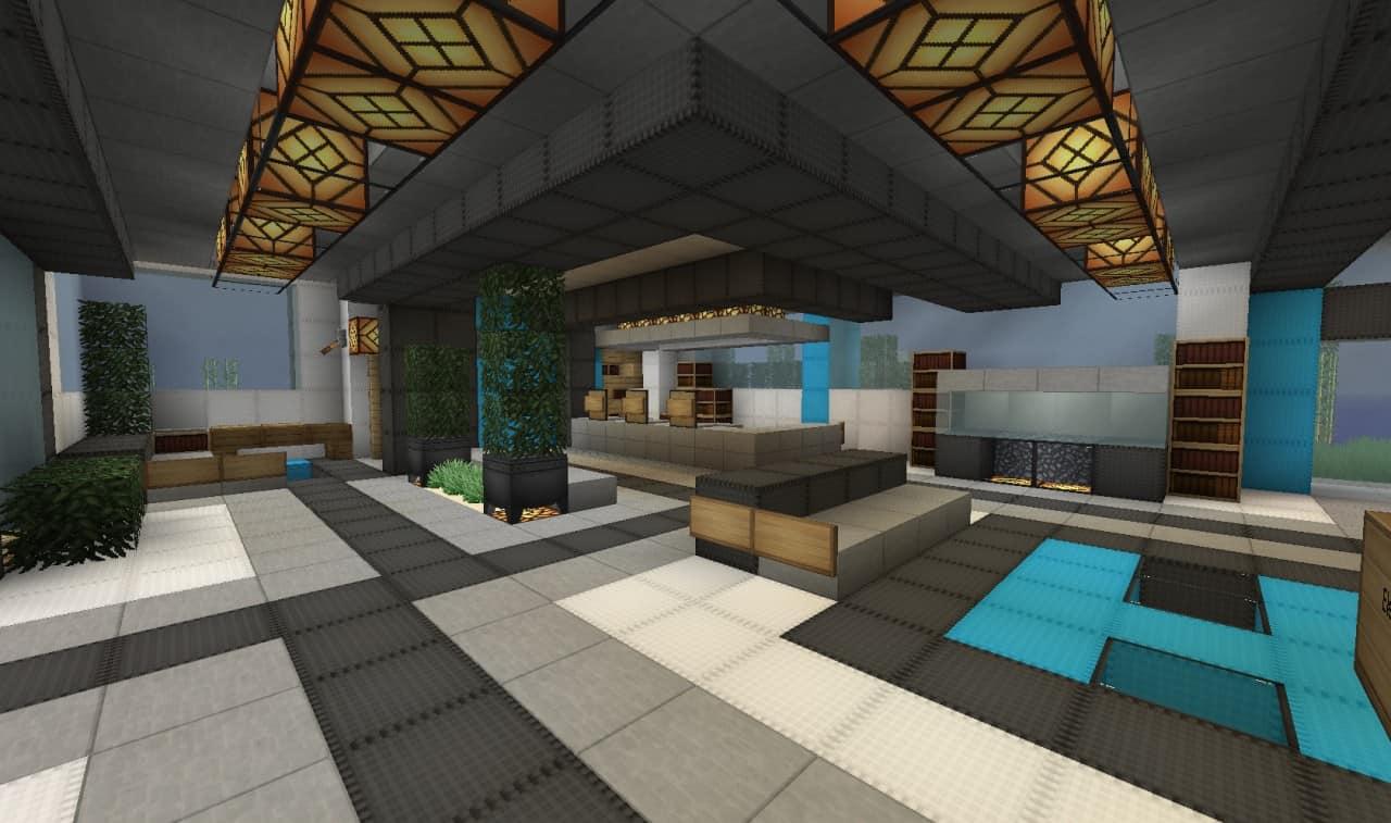 minecraft skyscraper inside