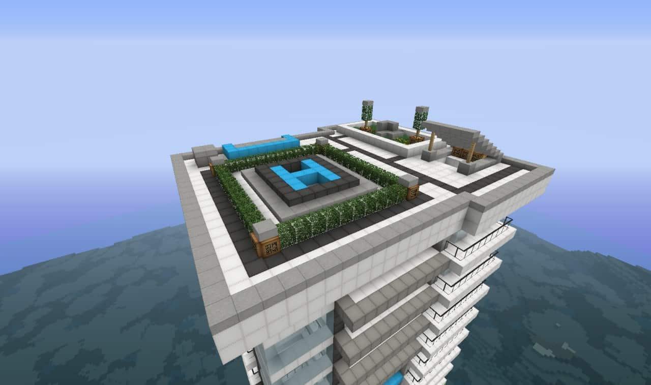 minecraft skyscraper top