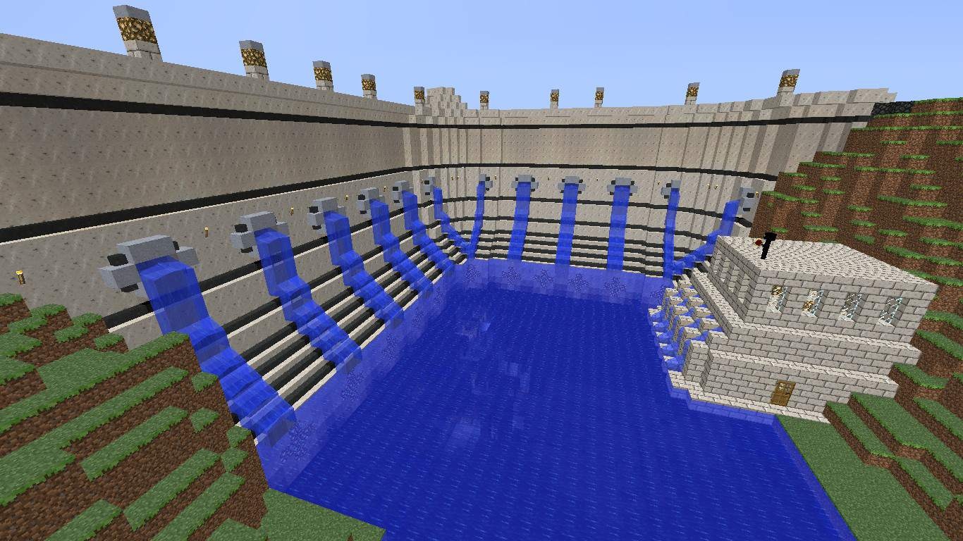 Water dam minecraft building inc for House build ideas