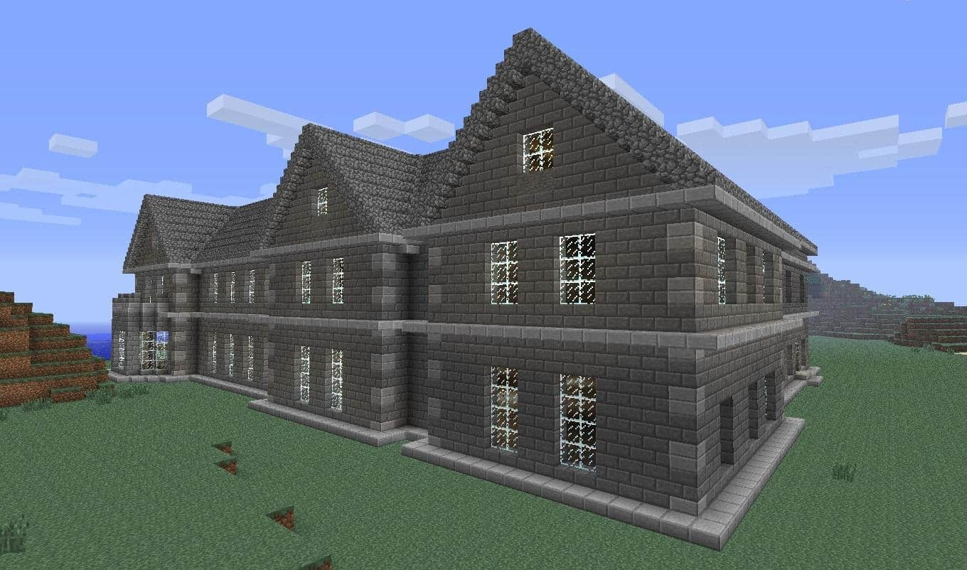Mount falcon manor house minecraft building inc for House building blueprints