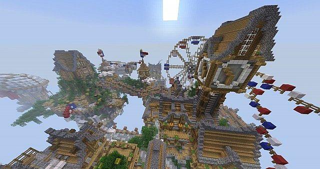 Floating City Cielo Bioshock Minecraft Build 5