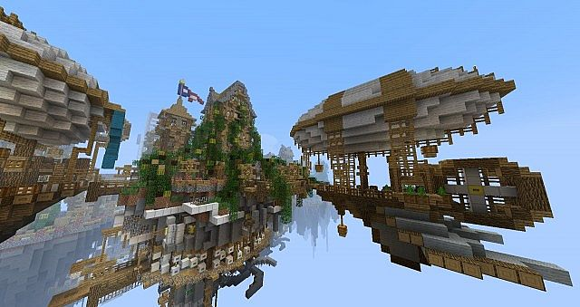 floating city cielo � bioshock � minecraft build 8