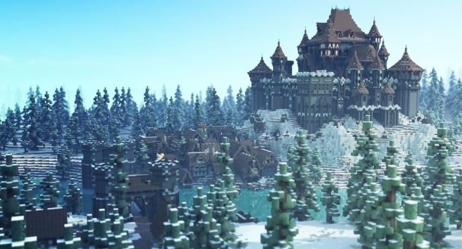 Minecraft game of thrones build castle 3