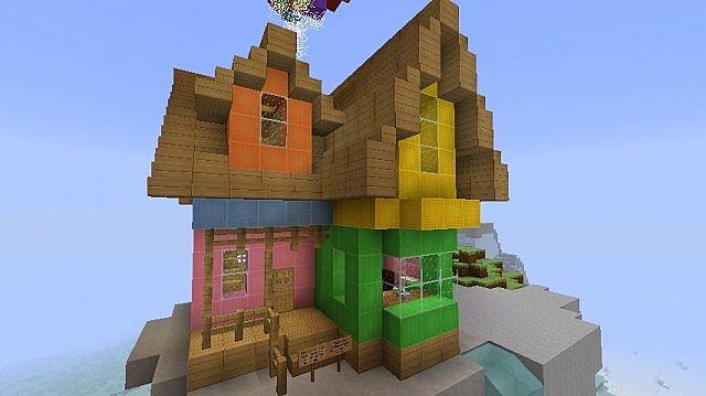 Pixar Up Movie House Minecraft 3 Minecraft Building Inc