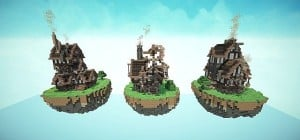 Steampunk Style Map Pack Minecraft build world 7