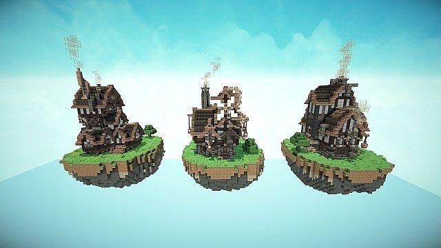 steampunk style map pack minecraft build world 7