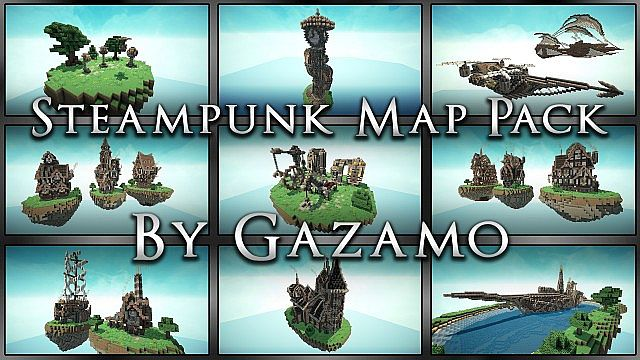 Steampunk Style Map Minecraft Building Inc