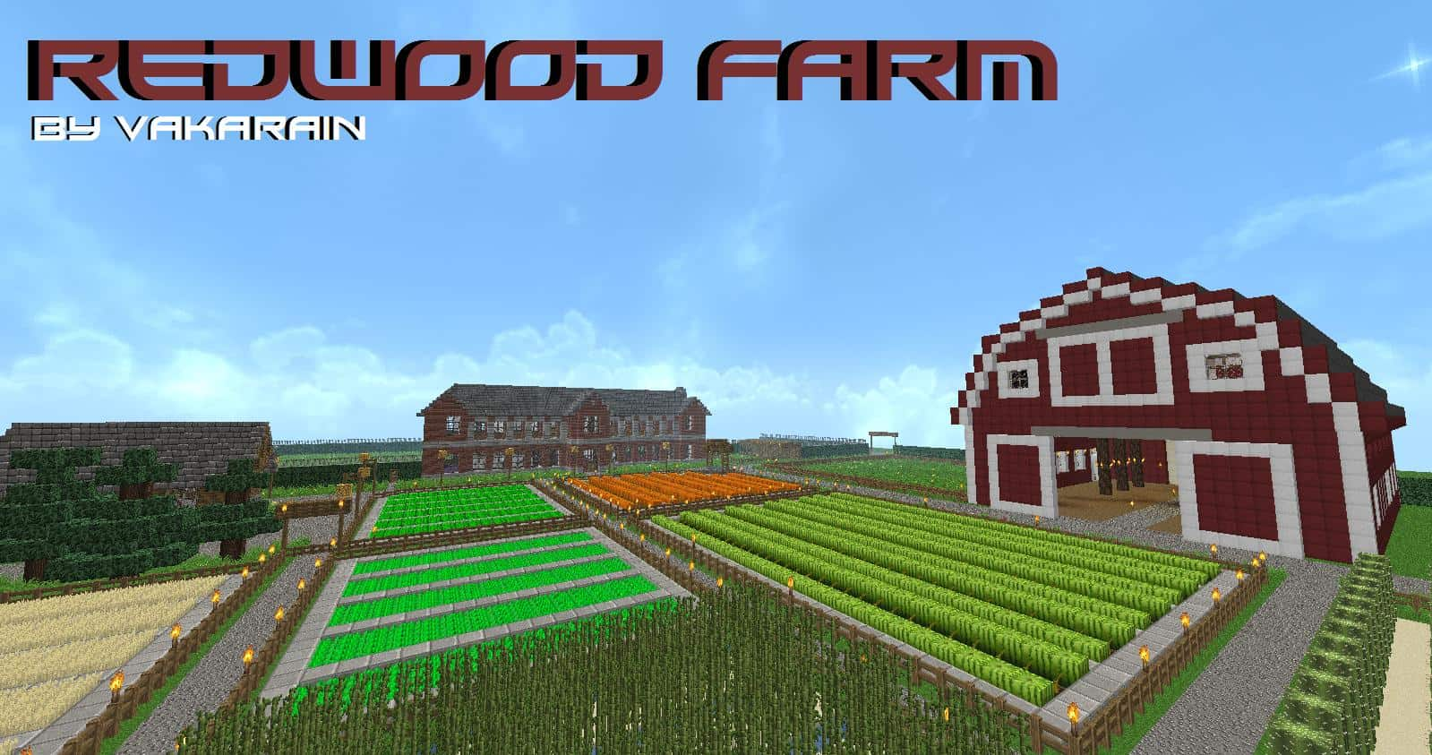 Redwood farm minecraft building inc for Building a farmhouse