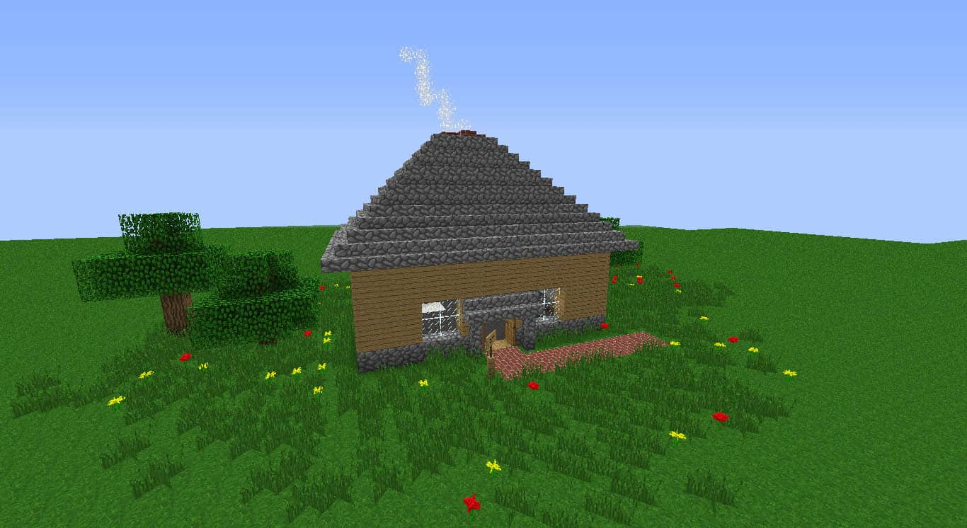 Awe Inspiring Small Peaceful House Minecraft Building Inc Largest Home Design Picture Inspirations Pitcheantrous