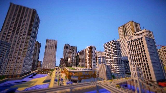 City of Maikura Minecraft building city towers 5 ...