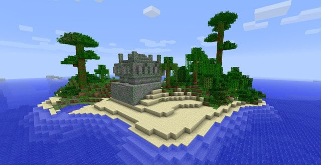 Minecraft Seed Jungle Island with temple