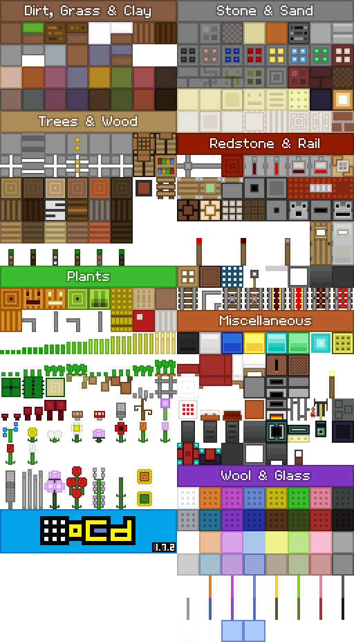OCD texture and resource pack 1.7a