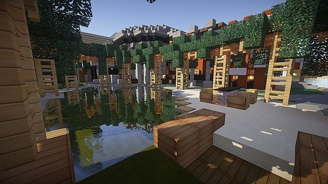 Luxurious Modern House 2 minecraft build ideas 2