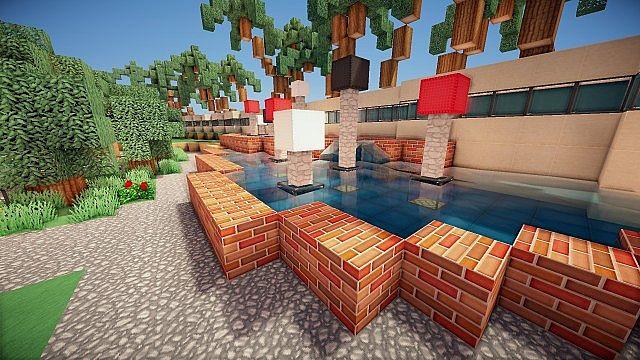 Luxurious Modern House 2 minecraft build ideas 8