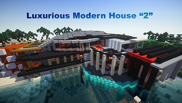 Luxurious modern house minecraft building inc for Modern house map