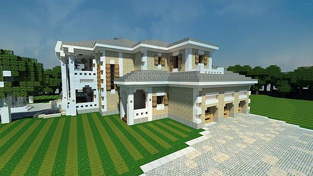 Plantation mansion house minecraft building inc for Houses to build