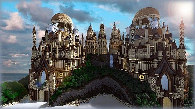 tropical sandstone castle minecraft build ideas 3