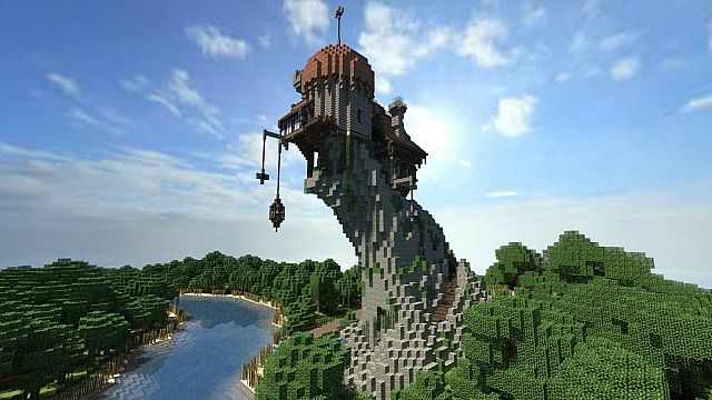 Warhammer Reik River Observatory minecraft build ideas 3