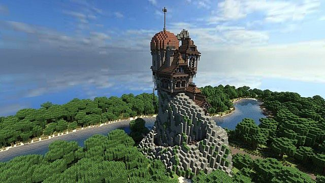 Warhammer Reik River Observatory minecraft build ideas 4