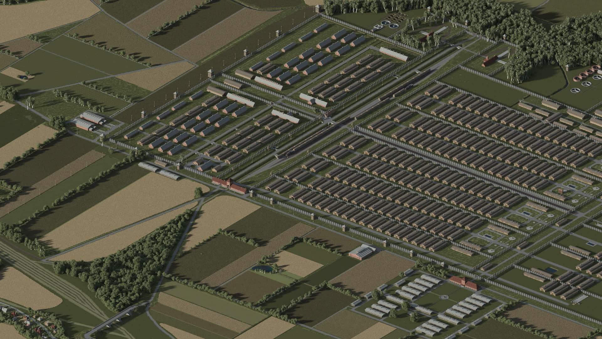 AUSCHWITZ-BIRKENAU, OSWIECIM, POLAND minecraft building ideas 4