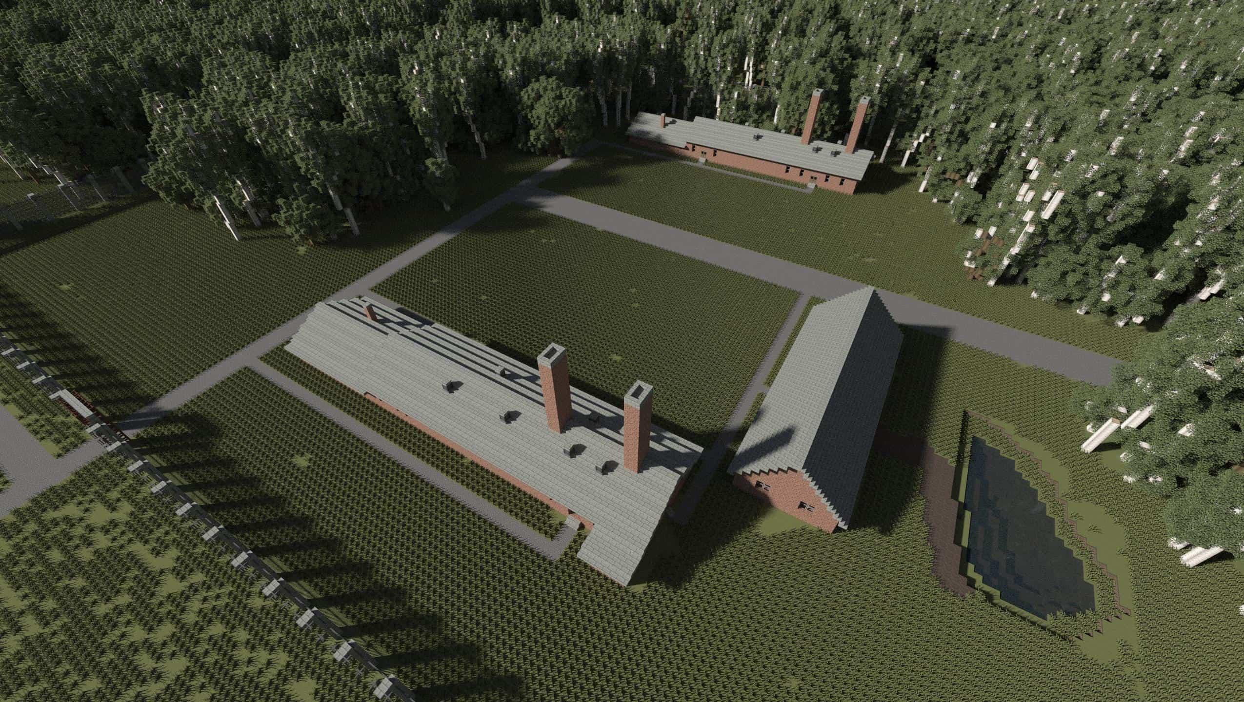 AUSCHWITZ-BIRKENAU, OSWIECIM, POLAND minecraft building ideas 5