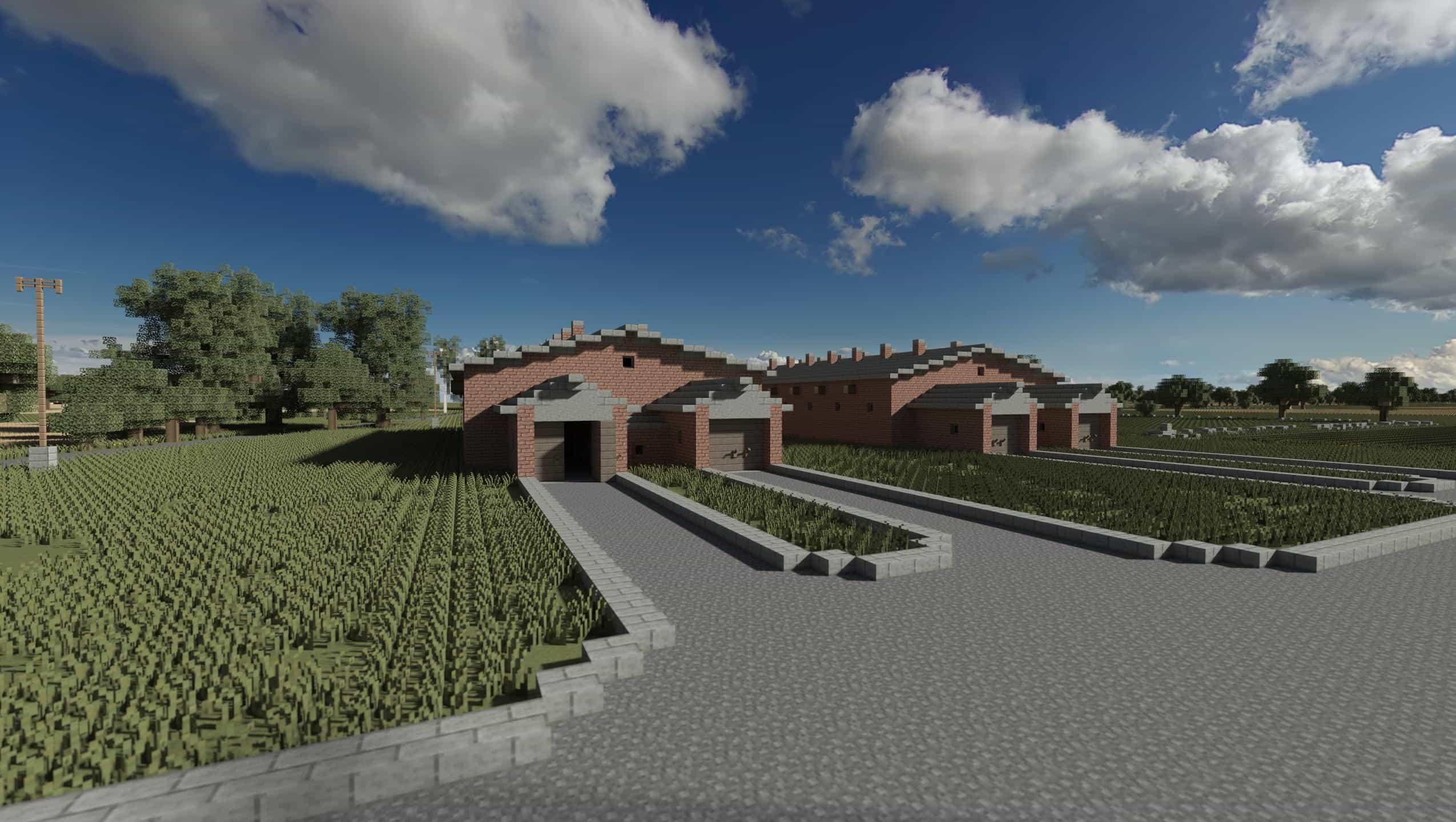 AUSCHWITZ-BIRKENAU, OSWIECIM, POLAND minecraft building ideas 7