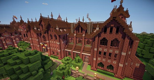 Abbington College - Victorian Style University minecraft building ideas 10