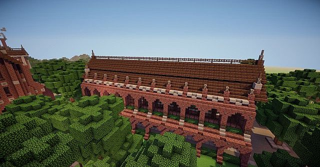 Abbington College - Victorian Style University minecraft building ideas 11