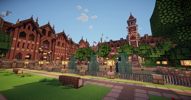 Abbington College - Victorian Style University minecraft building ideas 3