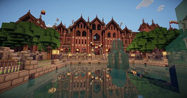 Abbington College - Victorian Style University minecraft building ideas 4