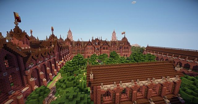 Abbington College - Victorian Style University minecraft building ideas 7