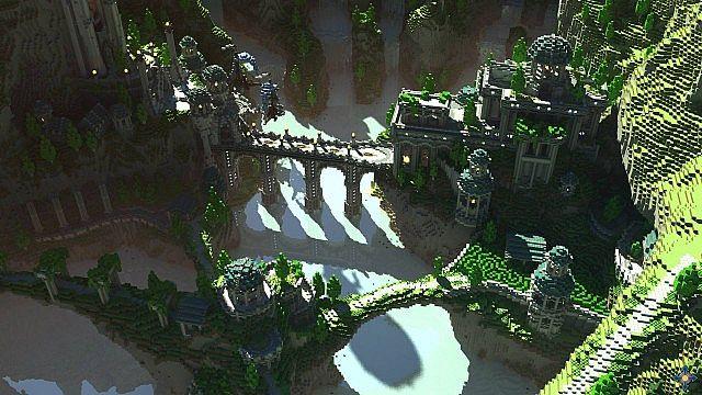 Aeron - City of the Skyknights Minecraft building ideas 3
