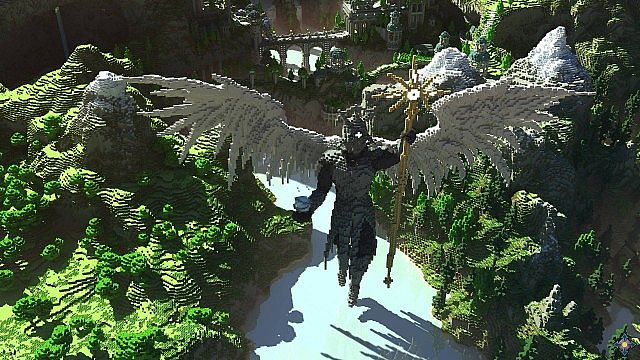 Aeron - City of the Skyknights Minecraft building ideas 4