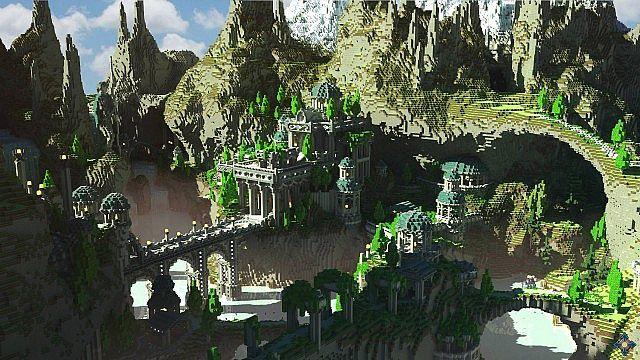 Aeron - City of the Skyknights Minecraft building ideas