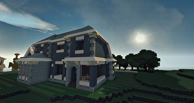 Craftsman Mansion House Minecraft building ideas 4