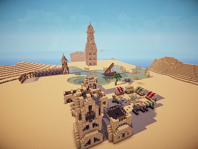 Hafsah, The Desert Village - 0neArcher minecraft ideas 10