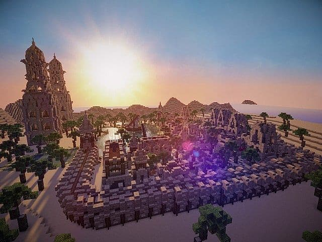 Hafsah, The Desert Village - 0neArcher minecraft ideas 2