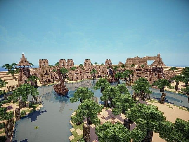 Hafsah, The Desert Village - 0neArcher minecraft ideas 3