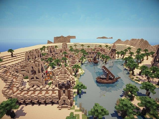 Hafsah, The Desert Village - 0neArcher minecraft ideas 4