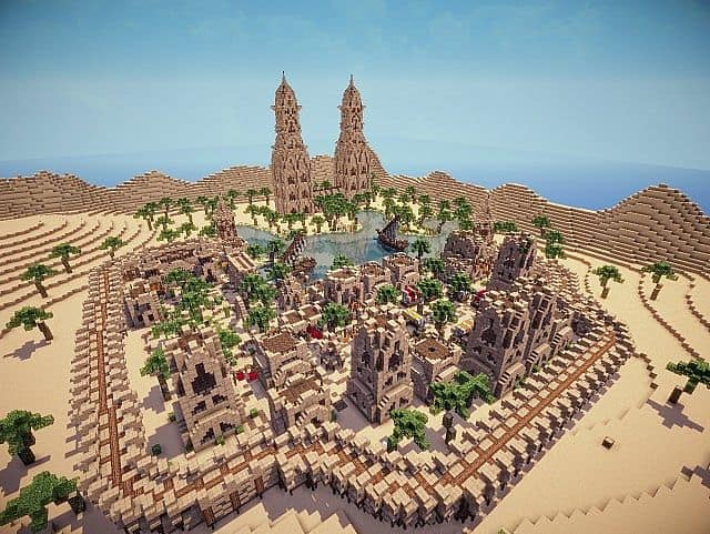Hafsah, The Desert Village - 0neArcher minecraft ideas 5