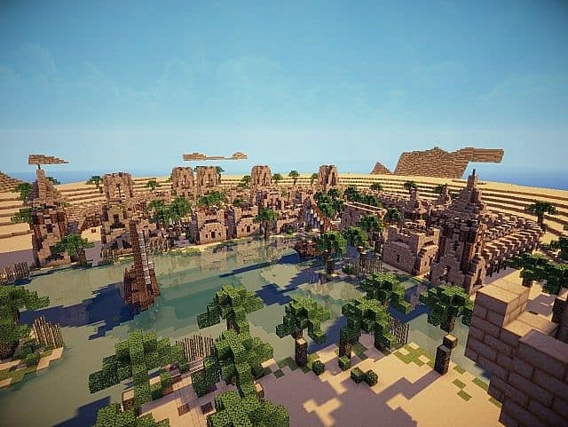 Hafsah, The Desert Village - 0neArcher minecraft ideas 6