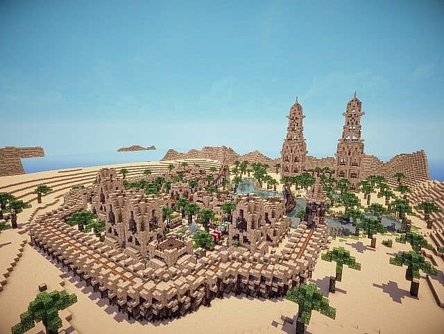 Hafsah, The Desert Village - 0neArcher minecraft ideas 7