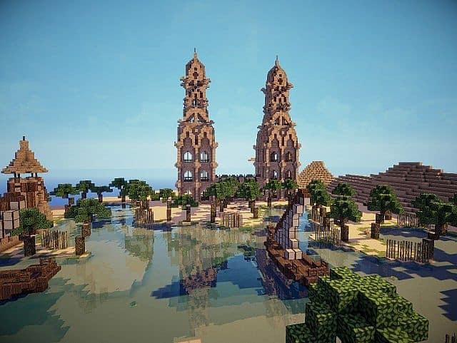 Hafsah, The Desert Village - 0neArcher minecraft ideas 8