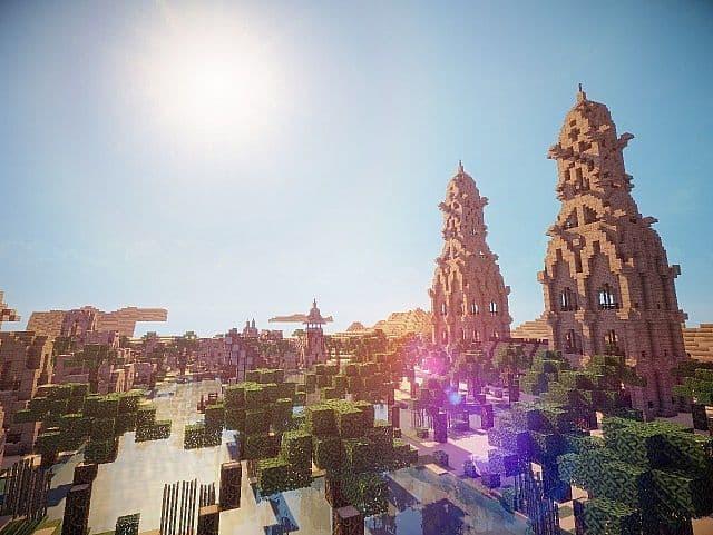 Hafsah, The Desert Village - 0neArcher minecraft ideas 9