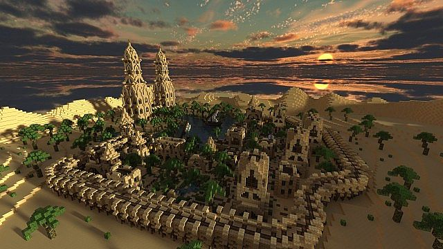 Hafsah, The Desert Village - 0neArcher minecraft ideas