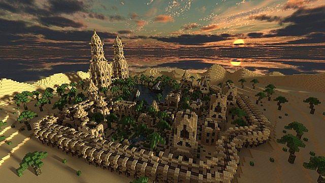 Hafsah, The Desert Village - 0neArcher minecraft ideas