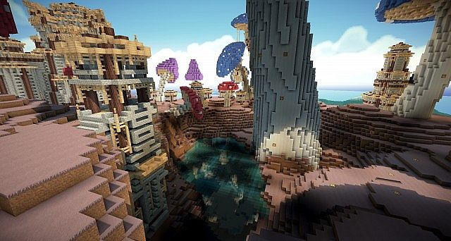 Pollux mushroom world build minecraft ideas kingdom 11